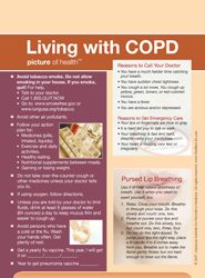 Living with COPD Picture Frame Magnet