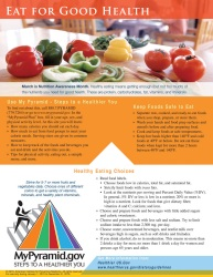 Eat For Good Health Poster