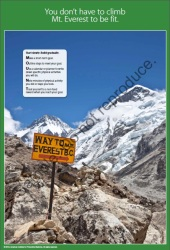 You Don't Have to Climb Mt. Everest to Be Fit Poster